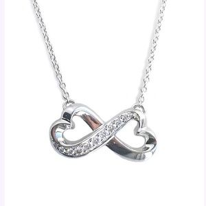 Authentic Tiffany &Co loving hearts necklace